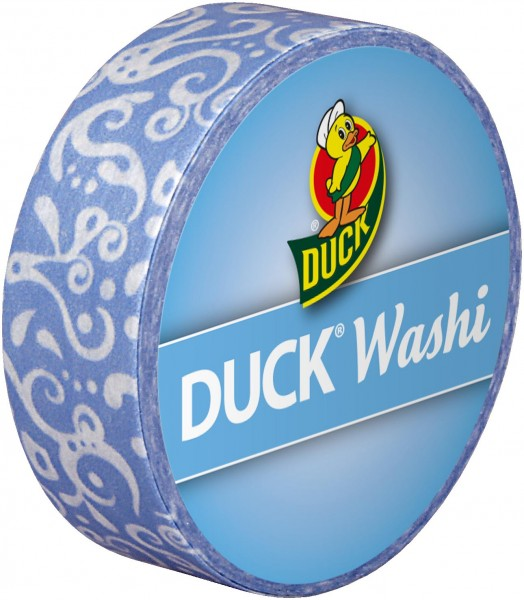 Duck® Tape Washi Blue Cirrus