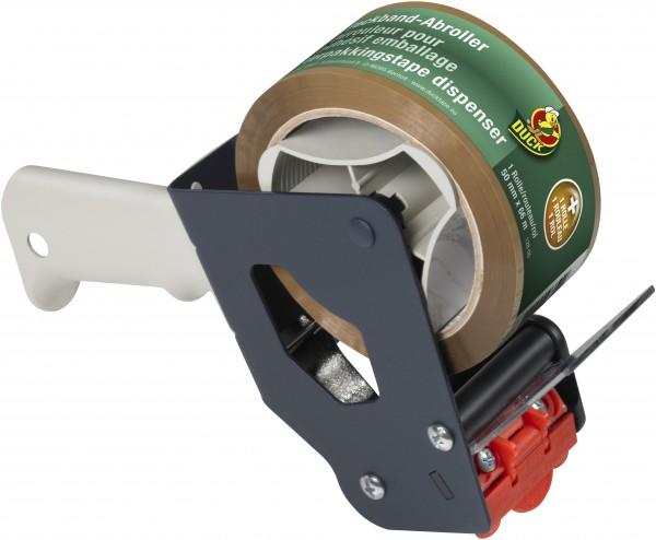 Duck® Set Handabroller + Packband Braun